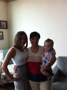 My mom with Jameson and I on Mother's Day!