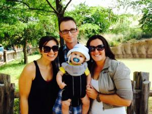Jameson with Mommy, Daddy and Auntie Michelle at the Zoo!