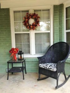 Our porch is ready for fall!