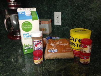 Milk, Espresso, Cinnamon, Nutmeg, Allspice, Brown Sugar, Ground Ginger