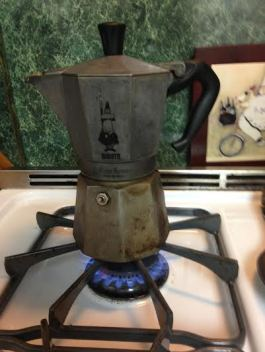 My espresso maker making magic...